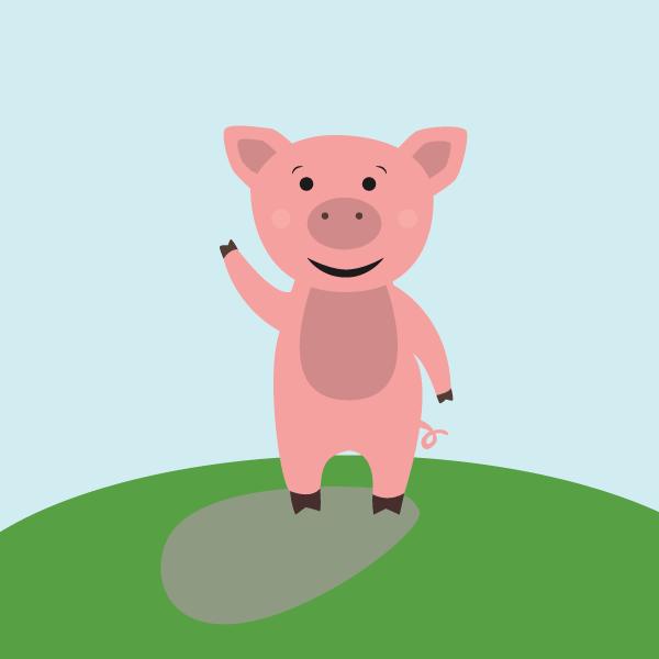 Illustration de Liz à la Ligne : cochon