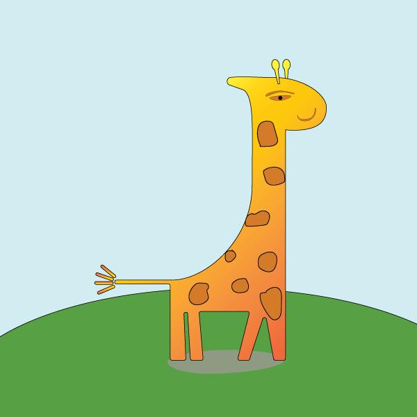 Illustration de Liz à la Ligne : girafe