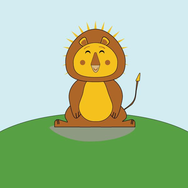 Illustration de Liz à la Ligne : lion